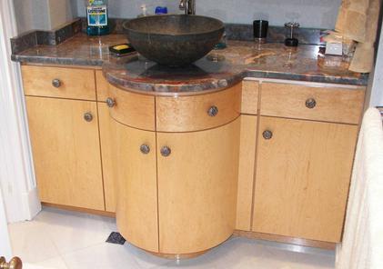 Kitchen bath for Birds eye maple kitchen cabinets